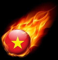 Round glossy icon of vietnam vector image