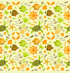 sandy seamless pattern with underwater world vector image