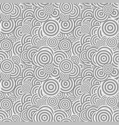 Seamless abstract circle pattern background vector