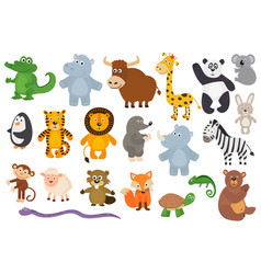 set of isolated animals vector image