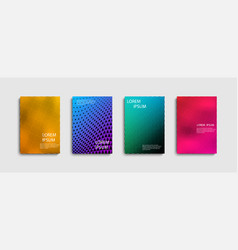 set of trendy abstract covers with for vector image