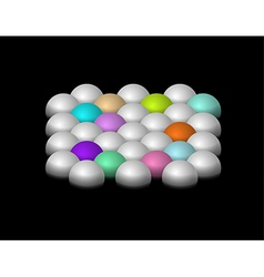 Silver and color half-spheres vector