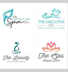 Spa beauty women logo design vector