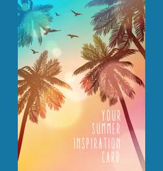 Summer beach inspiration card for wedding date vector
