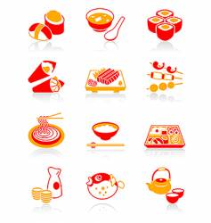 Sushi-bar icons juicy series vector