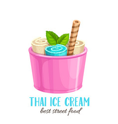 Thai ice cream vector