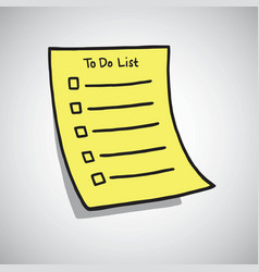 To do list paper checklist doodle vector
