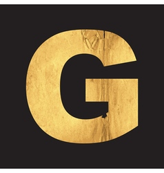 Uppercase letter G of the English alphabet vector