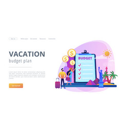 vacation fund concept landing page vector image