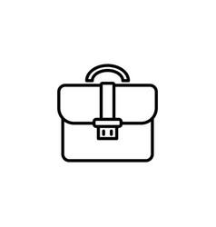web line icon business portfolio briefcase black vector image