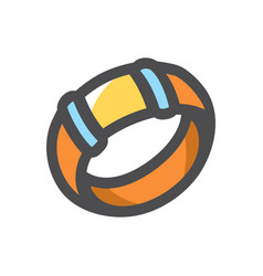 wrist bracelet decoration icon cartoon vector image