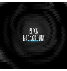 abstract black triangle background vector image vector image