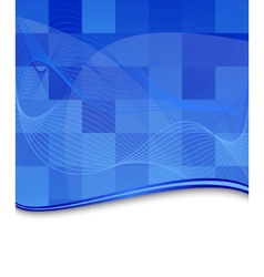 blue tile background template vector image vector image