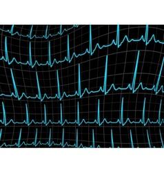 ECG tracing monitor EPS 8 vector image vector image