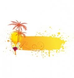 grunge summer banner vector image vector image