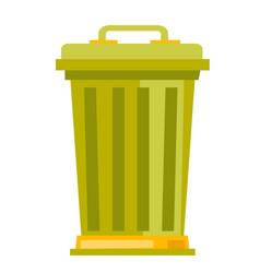 rubbish bin cartoon vector image