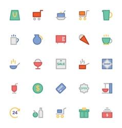 Shopping icons 2 vector