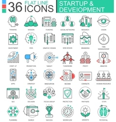 Startup and development modern color flat vector image