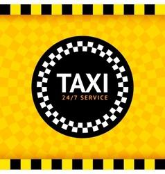 Taxi round symbol vector image vector image