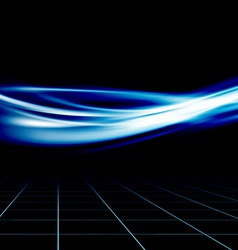 Blue futuristic abstract energy speed wave vector image vector image