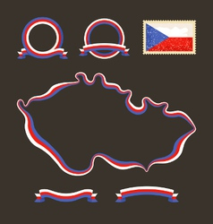 Colors of Czech Republic vector image vector image