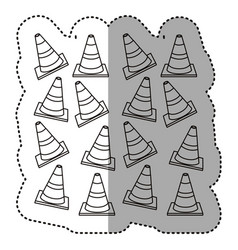 figure traffic cones background icon vector image