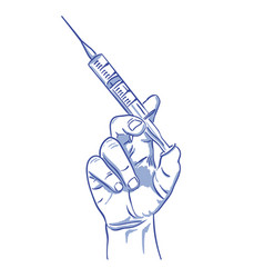 injection doodle drawing vector image