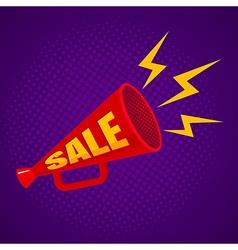 megaphone sale purple vector image vector image