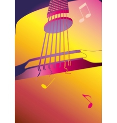 music background or poster with guitar vector image vector image