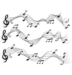 Musical notes set vector image vector image