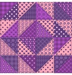 Seamless patchwork violet color pattern vector image vector image