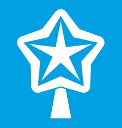 Star for christmass tree icon white vector