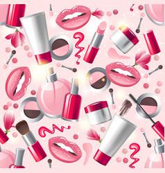 cosmetics seamless vector image vector image