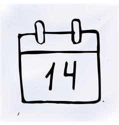 doodle paper calendar vector image vector image