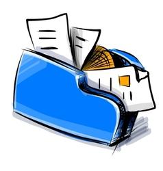 Folder icon cartoon vector image vector image