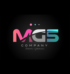 mgs m g s three letter logo icon design vector image vector image
