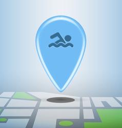 sports pin vector image