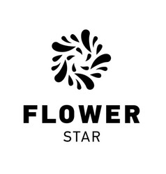 star logo design flower symbol graphic vector image