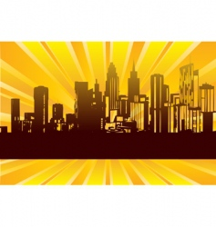 sunrise city vector image vector image