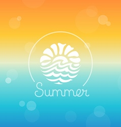 abstract logo design template - sun and sea vector image vector image