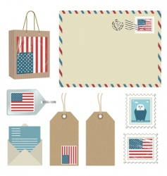 American postage vector image