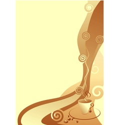 coffee card beige and brown vector image
