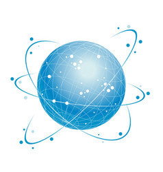 global network system icon vector image