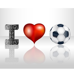 I love football vector image vector image