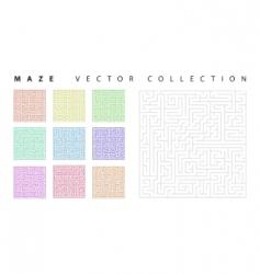 maze collection vector image