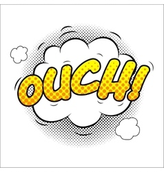 Ouch sound effect vector image