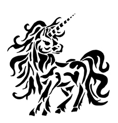 unicorn for coloring or tattoo vector image