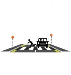 zebra crossing reckless driver vector image