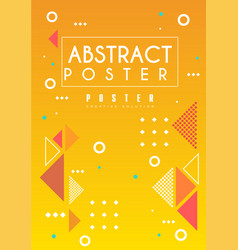 abstract poster bright placard template in orange vector image