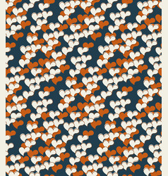 Abstract seamless pattern floral motif background vector